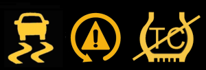 Traction control light icons