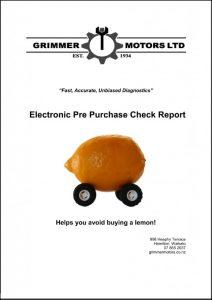Pre Purchase Report