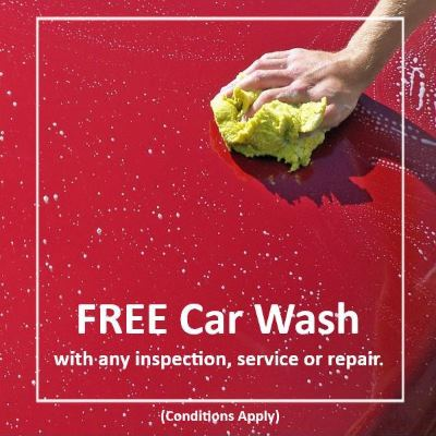 Free Car Wash with WoF, Service or Repair