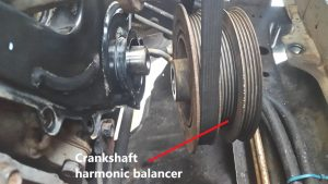 New crankshaft harmonic balancer pulley in Hamilton