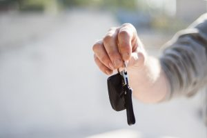 Holding electronic car key