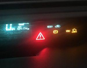 Prius dashboard warnings