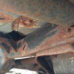 Rusted Car Underbody