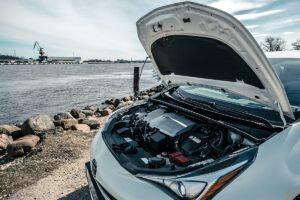 Car Bonnet Open